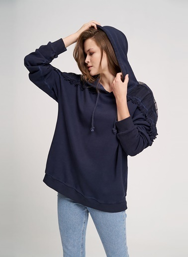Mizalle Youth Sweatshirt İndigo